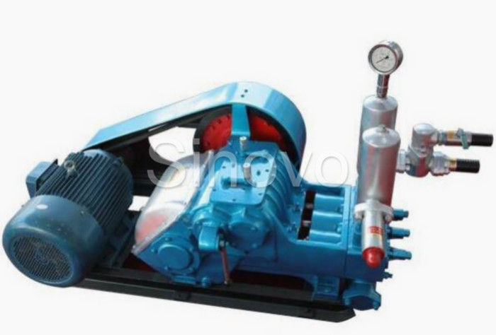 Blue Color Horizontal Mud Pump 335nm Input Torque Heavy Density